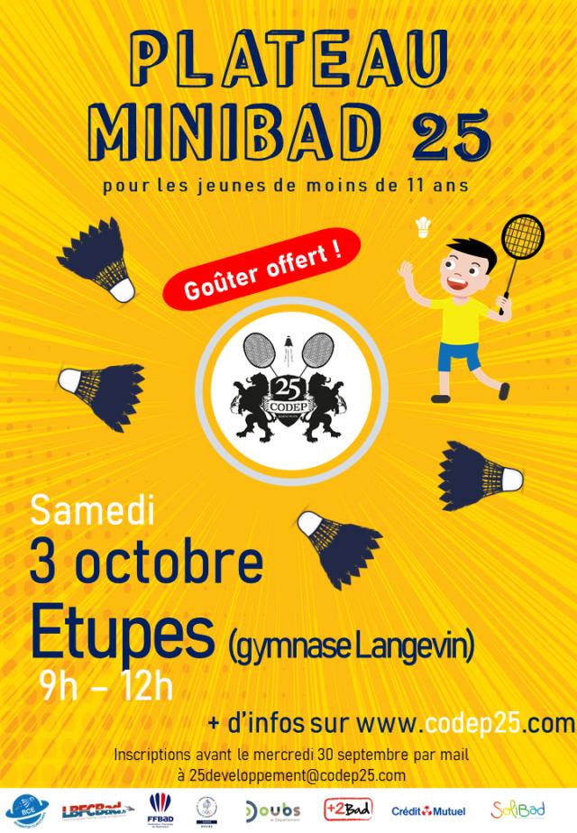 MiniBad && Trophée Départemental Jeunes ce week end