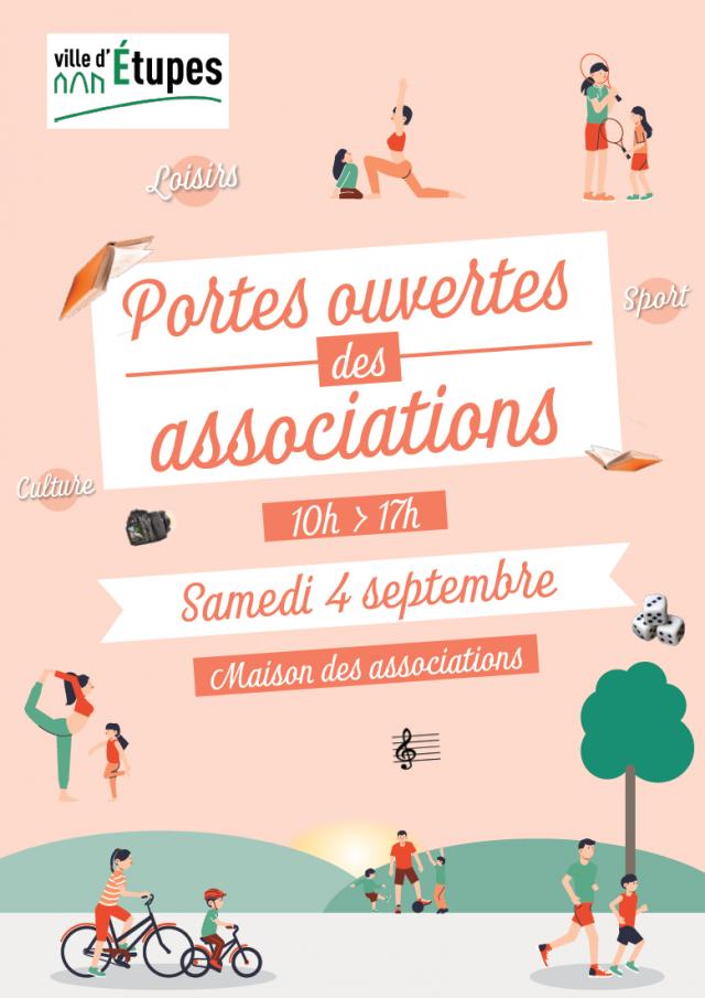 Portes ouvertes des associations samedi 4 septembre 2021